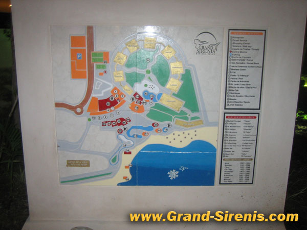 grand sirenis area map